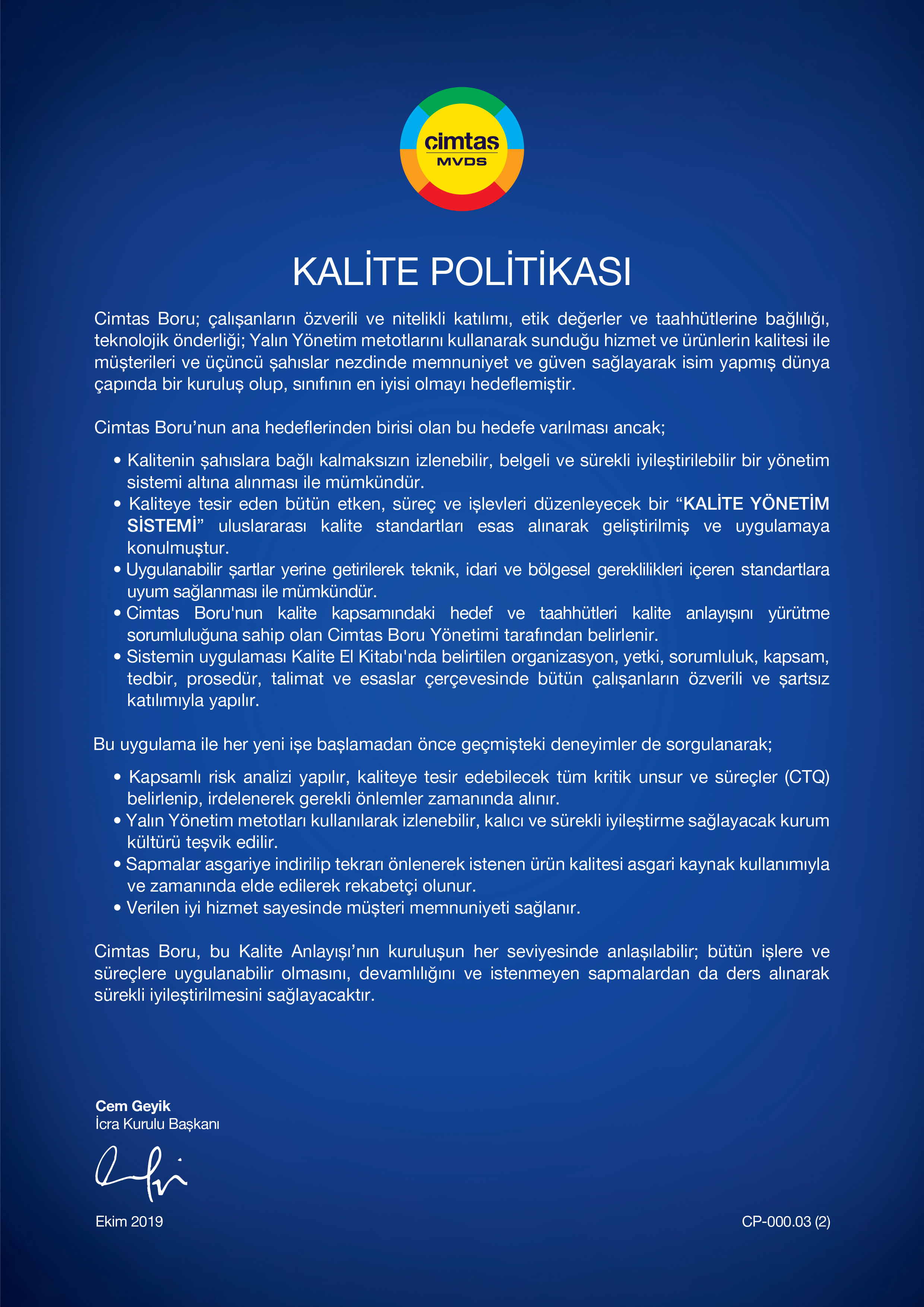 Kalite Politikasi_TR